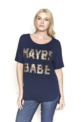 """Κ19-17209 Μπλούζα βισκόζ με τύπωμα """"MAYBE BABE"""""""
