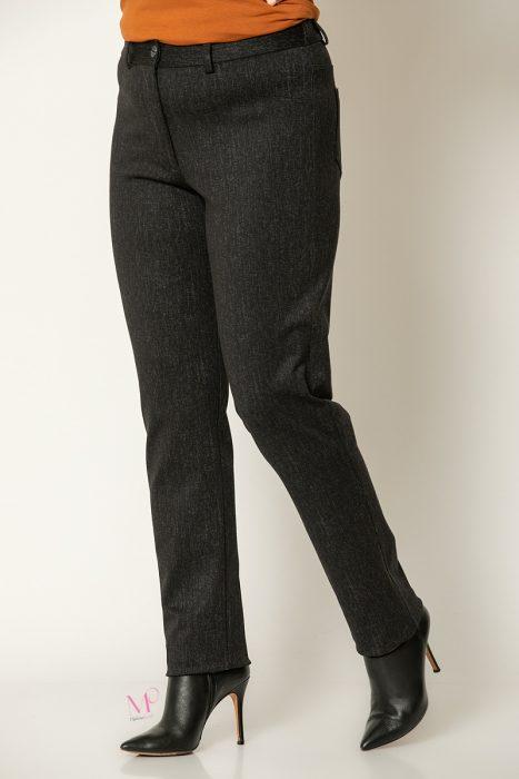 20-81320 Μαύρο Παντελόνι 5τσεπο μελανζέ τύπου τζιν